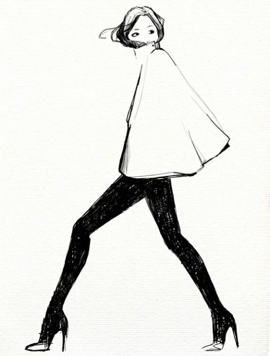 Garance Dore: Classical fashion illustration.