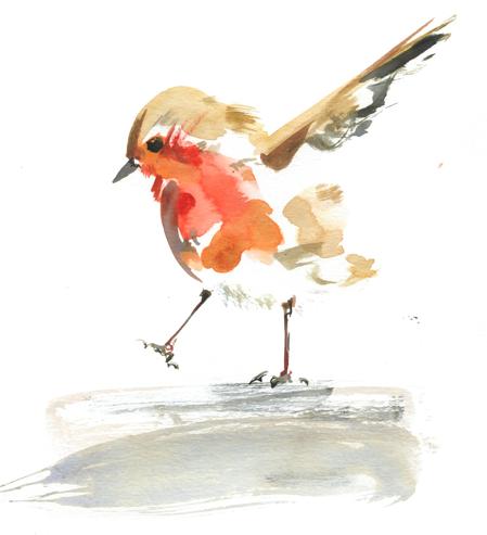 Little birdie illustration is simple